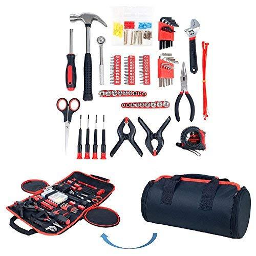 Haushalt Werkzeug Set , 86-teiliges mit Rolltasche, Trimate(Hammer, Schlüssel Set, Schraubendreher, Zange) - tolle für das Haus oder Auto -