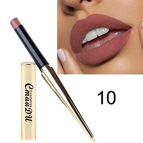 ❤❃ Armbanduhren Räumungsverkauf❤❃,Wasserdichter Lippenstift Matte Kürbis Farbe Lipstick Eat Earth Rich Vitamin E Moistuby ()