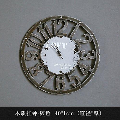 YANXUEPING Adornos eólica Industrial Creativo Reloj Retro, Salón Bar Engranaje mecánico Reloj, Reloj de Pared Reloj de Pared Reloj de Pared,19