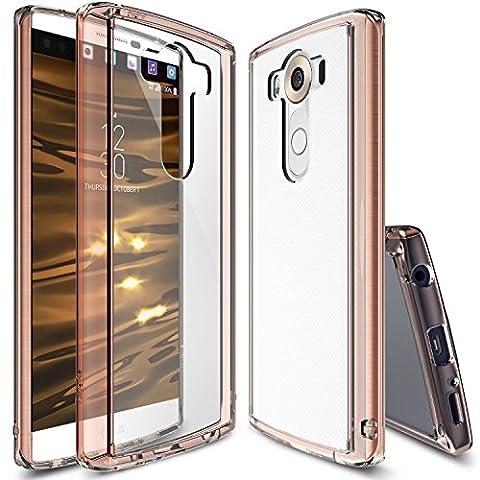 LG V10 Case, Ringke® FUSION [Rose Gold Crystal] Shock Absorption TPU Bumper [Free Screen Protector] Enhancing the Original Look Scratch Resistant Clear PC Back Slim Skin Customizable LG V10