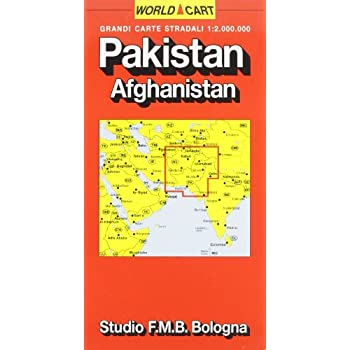 Pakistan. Afghanistan 1:2.000.000