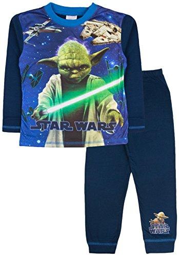 Disney-Star-Wars-Schlafanzug/Pyjama-Set für Jungen - Größe: 4–10Jahre Gr. 5-6 Jahre , Yoda, X-Wing, Falcon (Christmas Disney Pyjamas)