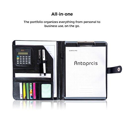 e4c8c83b2f0c Leathario-Portfolio A4 en cuir PU, porte document, portfolio cuir pour  bureau, agenda daffaires en cuir, ...