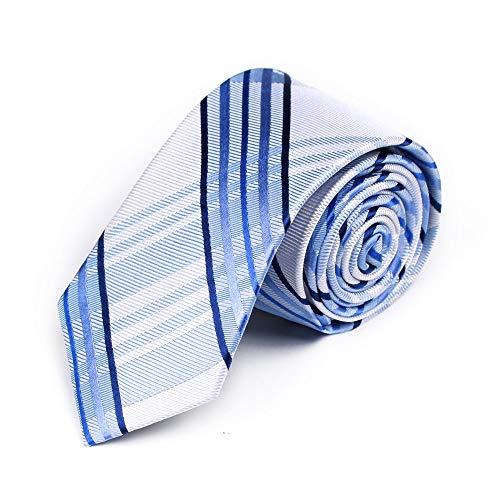 LXJ Tie Herren Seidenkrawatte Seide 7cm Business Meeting Casual Bankett Dating Geschenk Party Blau -