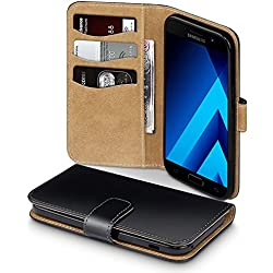 Coque Cuir Galaxy A5 2017, Terrapin Étui Housse en Cuir pour Samsung Galaxy A5 2017 Étui - Noir/Brun