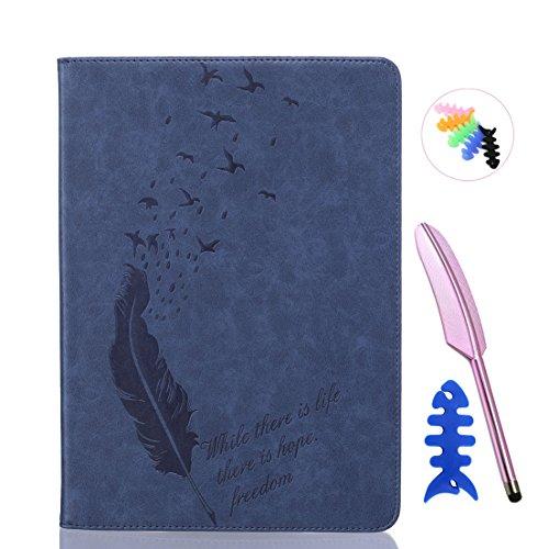 ANNN® iPad Air/iPad 5 Solide Drucken(Dayan Feather) PU Leder Flip Wallet Schutzhülle mit Magnetverschluss - Bookstyle Hülle mit Standfunktion und Kartenfach als stabiler Schutz--B03