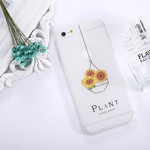 Phone Case & Hülle Für iPhone 6 & 6s Sunflower Muster TPU Fallschutz-Schutz-rückseitige Abdeckungs-Fall ( SKU : Ip6g1653f ) Ip6g1653c