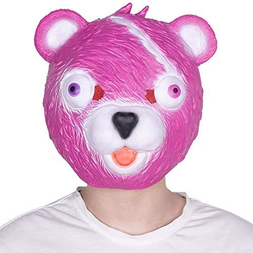 grau.zone Niedliche Teddy-Bär Maske als Partymaske für Halloween Karneval - Jugendliche Karneval Kostüme