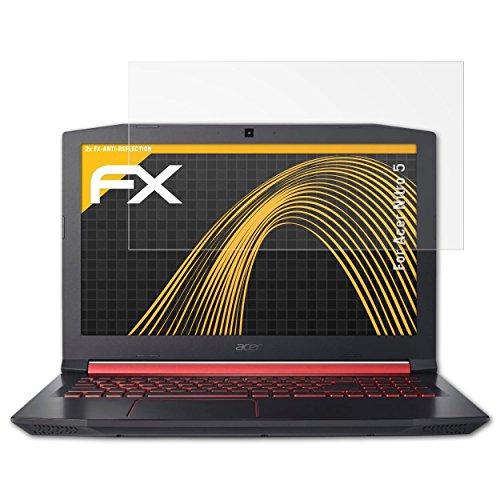 atFolix Panzerfolie kompatibel mit Acer Nitro 5 Schutzfolie, entspiegelnde & stoßdämpfende FX Folie (2X)