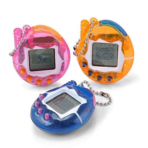 Tamagotchi Mascota Huevo Juguete Mascotas Electrónicas Huevo Dinosaurio Regalo Navidad Electronic Pet Llavero (3/Color aleatorio)