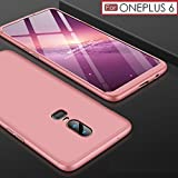 #6: Premium Back Case For OnePlus 6 – WOW Imagine 3 in 1 Double Dip Case [ Anti Slip ] Super Slim [Hard] Hybrid PC All Angle Protection Lightweight Matte Hard Back Case Cover For 1+6 One Plus OnePlus 6 - Rose Gold