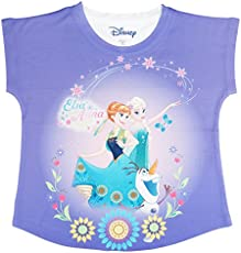 Frozen Purple Polyester Top For Girls DFZ0004