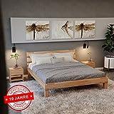 Krok Wood Valetta Massivholzbett in Buche 180 x 200 cm FSC 100% Massiv Doppelbett, Natur geölt Buchebett, Billig Holzbett mit Kopfteil, massivholz Bett vom Hersteller und kostenlose Lieferung