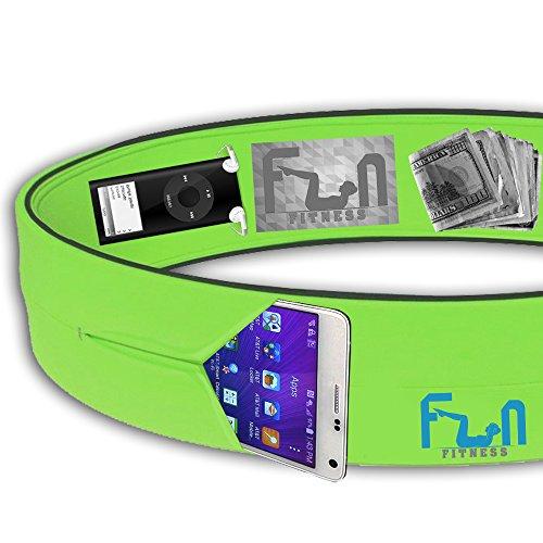1-Laufgrtel-Grn-XXL--Premium-Fitness-Grteltasche--Am-besten-fr-groe-Telefone-geeignet-inclusive-dem-iPhone-7-und-Note-4--Perfekt-fr-das-Training-und-Aktivitten-im-Freien--Lebenslange-Garantie--Zeitlic