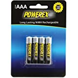 "4 batteries rechargeables POWEREX type "","" AAA NiMH-1000mAh"