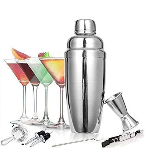 Toogou Classic and Elegant Stainless Steel 8-Piece 24 oz Martini and Cocktail Shaker Set