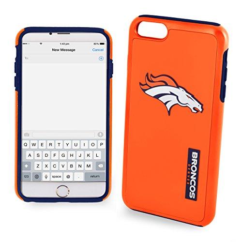 NFL Denver Broncos Auswirkungen TPU 2teilige Dual Hybrid iPhone 7/6/6S Cover–11,9cm Bildschirm nur ()