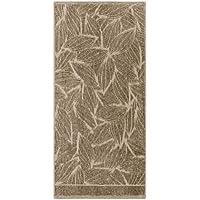 Egeria HERBA 46003in 3colori e 2taglie, 500g/m², 100% cotone organico da coltivazione biologica, con motivo decorativo, 529 Taupe, 50x100 cm