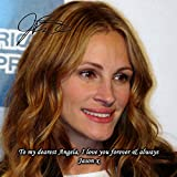 Julia Roberts 1 Personalised Gift Print Mouse Mat Autograph Computer Rest Mouse Mat Compatible with Laser and Optical Mice (with Personalised Message)