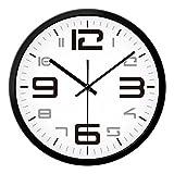 ZHAS Wanduhr Wohnzimmer Schlafzimmer kreativ Modern einfach stumm Große Uhr Quarz Uhren Taschenuhr Neu (Farbe: A, Größe: 14 cm)