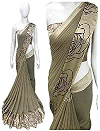 High Glitz Fashion Women's Party Wear Latest Georgette Saree With Blouse Piece