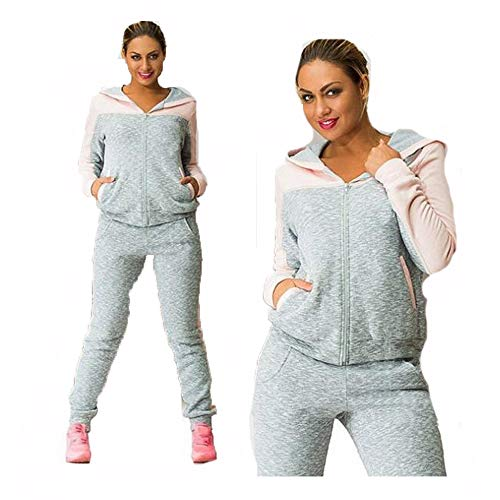 Blackthings Felpe Sportive da Donna Giacca con Cappuccio Athletic Zip Up  Set Completo di Pantaloni da ... f23fa6b9b45