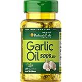 Aceite de ajo 5000 mg 100 cápsulas blandas. Puritan's Pride 1 und.
