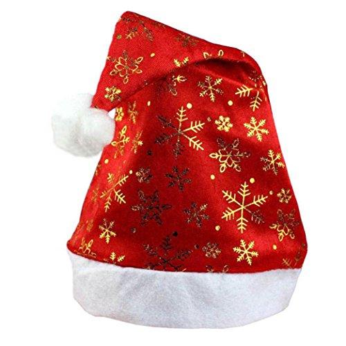 OHQ Nouveau chapeau de Noël de vacances de noël pour les cadeaux non-tissés de père noël (Or)