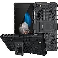 ykooe Funda para Huawei P8 Lite Doble Capa Híbrida Teléfono Funda Protección Avanzada Case Soporte