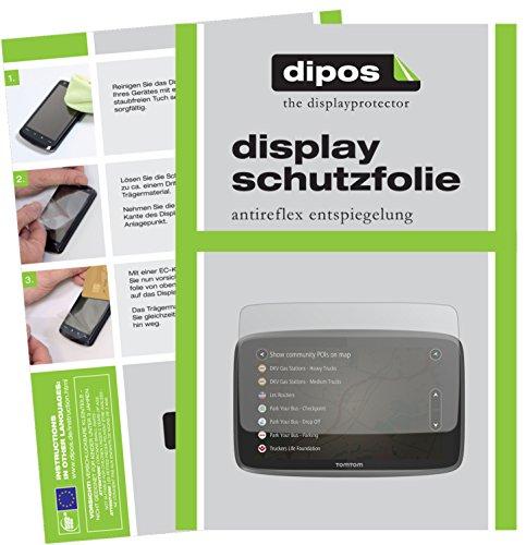 TomTom Go Professional 6200 Schutzfolie - 3x dipos Displayschutzfolie Folie matt