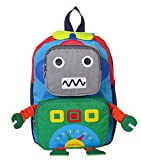 Huateng Mochila pequeña para niños pequeños, Bolso de Escuela Lindo para bebés Robot Mochilas Escolares Oxford para niños de Entre 1 y 3 años