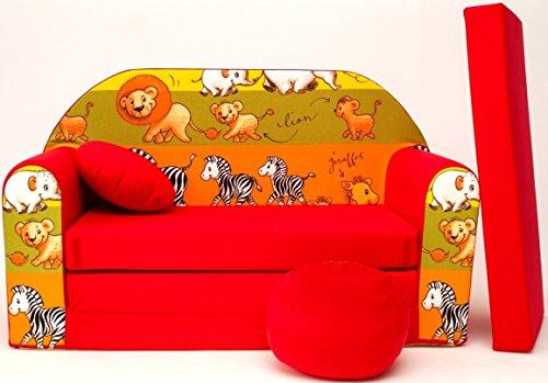 D2l + divano bambini divano pieghevole divano letto matrimoniale mini strato 3-in-1 baby set + poltrona per bambini e ammortizzatore di sede + materasso