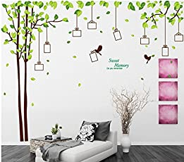 Oren Empower Decorative Tree with photo frames Extra Large Wall Sticker, 2pc/set (Double Sheet), (275(w) x 210(h) cm)