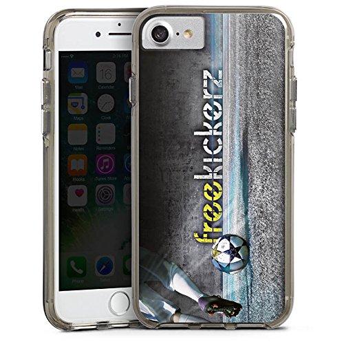 Apple iPhone X Silikon Hülle Case Schutzhülle Freekickerz Fanartikel Merchandise Fußball Bumper Case transparent grau