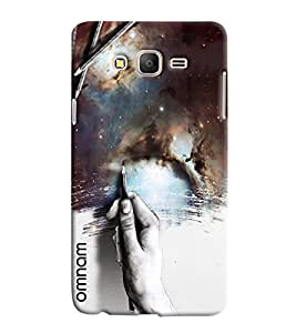Omnam Hand Painting Smoke Effect Printed Designer Back Cover Case For Samsung Galaxy On 7