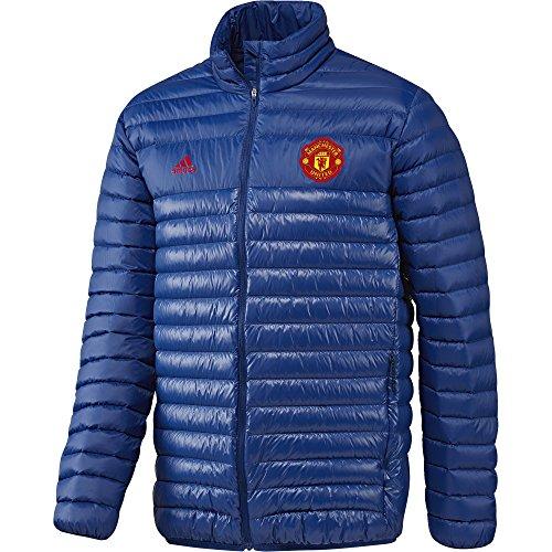 Adidas MUFC LT Down JK Chaqueta de la línea Manchester United FC, Hombre, Azul/Rojo Reauni/Rojrea, S