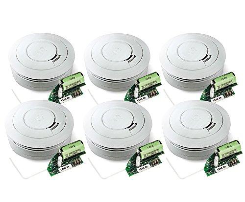 Ei Electronics Ei650RF 10-Jahres-Funkrauchmelder, 6 Stück
