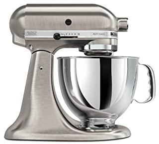 KitchenAid KSM150PSENK - Robot de cocina, motor de 300 vatios, capacidad de 5 l, acero inoxidable, color níquel (B0000C01ZB) | Amazon price tracker / tracking, Amazon price history charts, Amazon price watches, Amazon price drop alerts