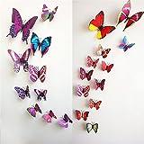 Butterfly Wall Stickers - 12 Pcs Purple ...