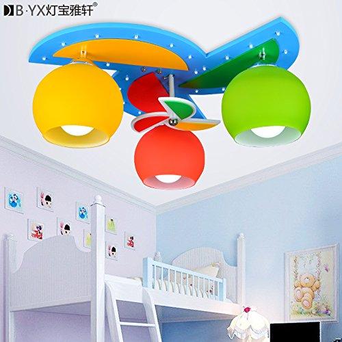 LTERD Bambini di mulino a vento in lampada di illuminazione camera dei bambini è ragazzi e ragazze bambini camera da letto soffitto lampada LED fumetto creativo soffitto luce 52 * 52 * 20cm,luce bianco-3