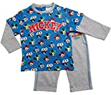 Mickey Mouse Jogginganzug Kollektion 2017 Set Jacke und Hose 62 68 74 80 86 92 Jungen Anzug Hausanzug Maus Lang Baby bis Kleinkind (Grau-Blau, 74-80)