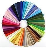 RayLineDo 50 Different Color Pieces Linen Cotton Fabric Solid Color Bundle Patchwork Squares Of 10*10cm