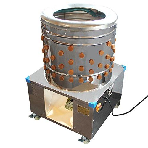 Beeketal \'BRM1800\' Geflügelrupfmaschine auf Rollen für Hühner, Enten, leichten Gänsen und Puten, Nassrupfmaschine Kapazität: ca. 250 Geflügel pro Stunde (max. 8 kg Belastung oder 5 kg pro Tier)