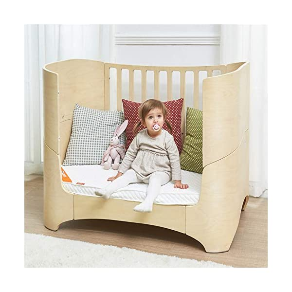 KLI Multi-Function Newborn Infant Crib Solid Harmless Harmless Paint Wood Baby Cradle Rocking Bed,120 * 68 * 94Cm,Brown KLI 1.Shipping list: crib,mat 2.Size:120*68*94cm 3. 2 grade height adjustment: grade 1 (55cm from the floor)can be used for baby in 0-6 month, convenient to take out baby; grade 2 (22cm from the floor) for baby in up to 4 years old and can stand independently 6