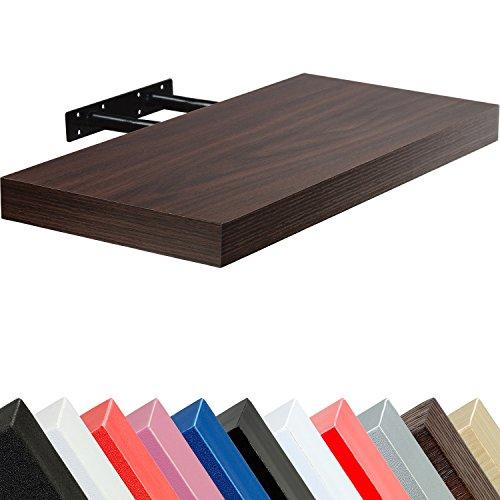 STILISTA Wandboard 'Volato', freischwebend, Stärke 3,8cm, 11 Farbvarianten, Längen 50cm 70cm 90cm 110cm