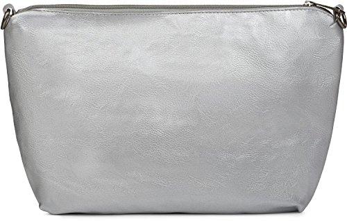 styleBREAKER borsa reversibile XXL con look intrecciato, shopper, Set di borse , 2 borse, borsa nella borsa, borsa a tracolla, donna 02012163, colore:Marrone scuro / Antico-Bronzo Nero / Argento