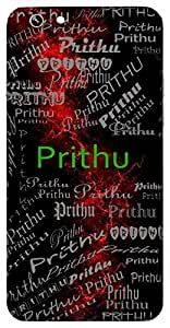 Prithu (Broad, Spacious) Name & Sign Printed All over customize & Personalized!! Protective back cover for your Smart Phone : Samsung Galaxy J2 - PRO