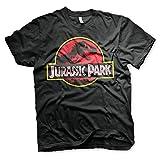 Jurassic Park T-Shirt Logo Maglia Maglietta – Ufficiale Originale (Nero, XX-Large)