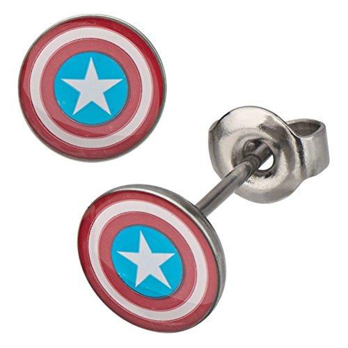 marvel-comica-orecchini-a-perno-con-scudo-di-capitan-america-personaggio-marvel-colore-rosso-bianco-