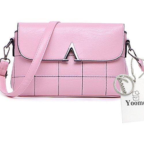Sacchetti di spalla trasparenti dellannata di grande capacità della borsa del messaggero elegante delle donne di Yoome - viola Rosa